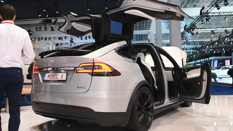 Tesla Model X 90D all electric, luxury, crossover SUV Live Action