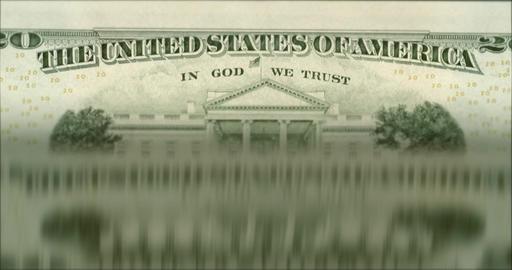 "4K Loopable: Machine Flips Twenty Dollar Bills With Caption ""United States Of Footage"