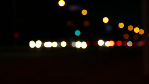 4K Ungraded: Bokeh Lights of City Footage