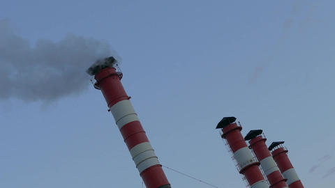 4K Ungraded: Chimney Smoke / Smoke Stack / Air Pollution Footage