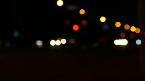4K Ungraded: Bokeh Lights of City Footage
