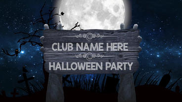 Halloween party: nightclub promo video project Apple Motion-Vorlage