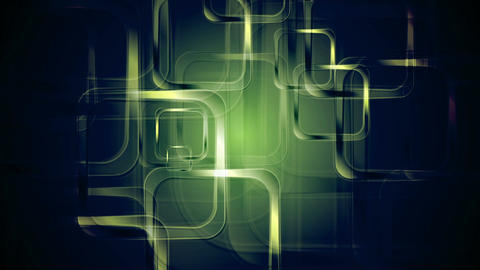 Green glossy squares abstract geometric motion design Animation