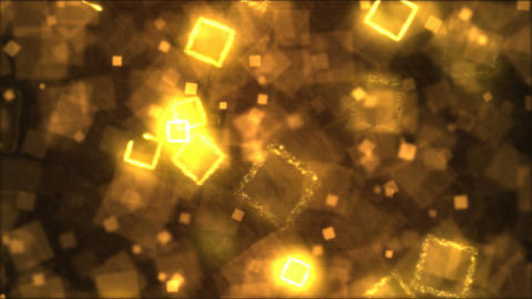 Drawing Square Shapes Motion Background Animation - Loop Golden Animation
