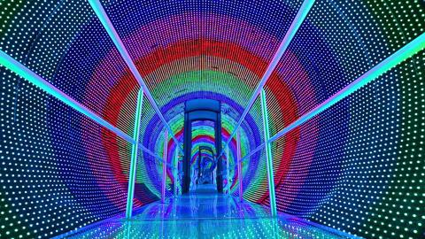 rainbow light tunnel Footage