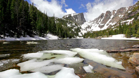 Dream Lake at the Rocky Mountain National Park Footage