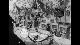 RAINING MONEY! 1930s: Cartoon Characters Collect Money That Rains Down on Town Animation