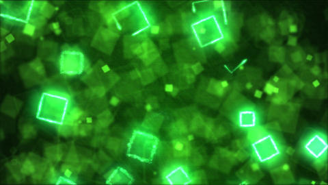 Drawing Square Shapes Motion Background Animation - Loop Green Animation