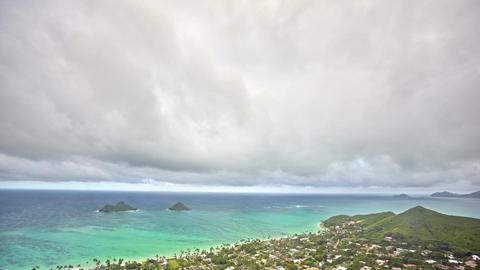 timelapse of Lanikai Beach and Mokulua Islands, O'ahu, Hawai'i Footage