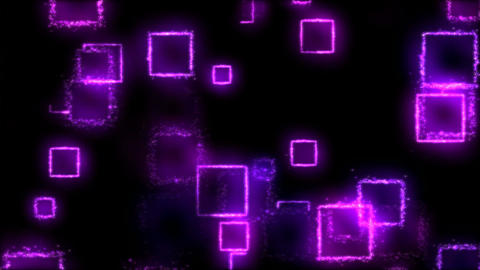 Drawing Square Shapes on Black Background - Loop Purple Animation