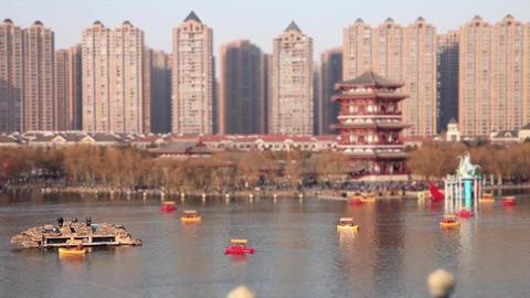 Chinese Park, Boats Timelapse Footage