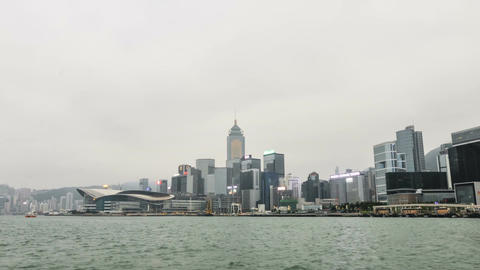 Victoria Harbour in Hong Kong Footage