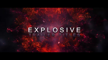 Explosive titles After Effects Projekt