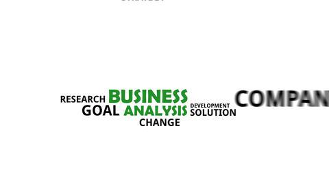 Kinetic typography business analysis Animation