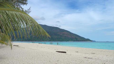 White sandy beach on Koh Lipe island Footage