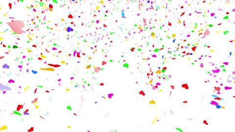 Confetti Heart 1 LU Fix 4LcW L 4k CG動画素材