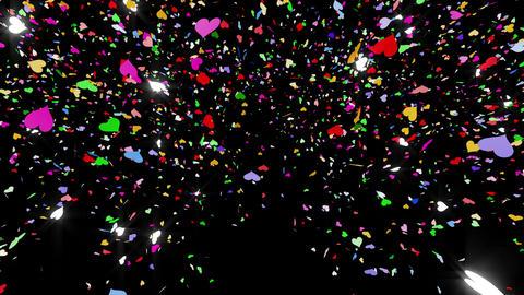 Confetti Heart 1 LU Fix 4McB 4k CG動画素材
