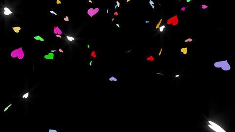 Confetti Heart 1 LU Fix 4XcB 4k CG動画素材
