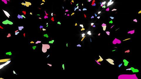 Confetti Heart 1 LU Fix 4XcB L 4k CG動画素材