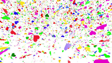 Confetti Heart 1 LU Fix 4McW L 4k CG動画素材
