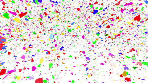 Confetti Heart 1 LU Fix 6McW L 4k CG動画素材