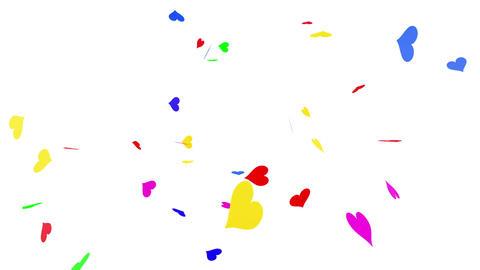 Confetti Heart 1 Slant Fix 1XcW L 4k CG動画素材