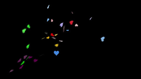 Confetti Heart 1 Slant Fix 1XcB M 4k CG動画素材