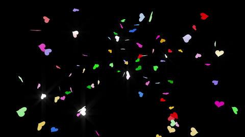 Confetti Heart 1 Slant Fix 2XcB 4k CG動画素材