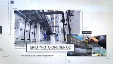 Grid Photo Opener - Corporate Slideshow After Effects Project