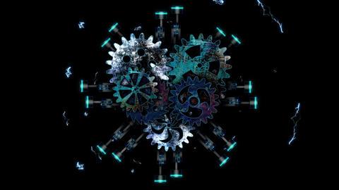 Techno Heart 01 Vj Loop Animation