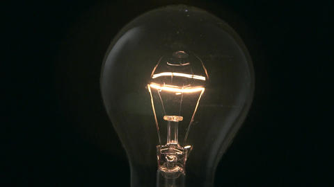 Light bulb turning on and off Footage