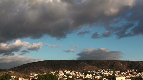 Clouds above a quiet town