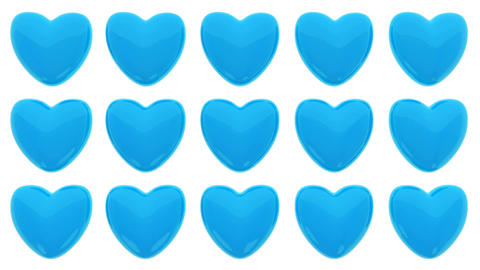 Loop animated pattern of 3D hearts isolated on white background Animation