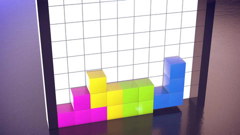 Construction of 3d tetris cubes Animation