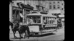 4K Turn of the Century: NYC Horse Car, South Ferry and Central Park Footage