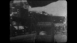 4K Turn of the Century: NYC Elevated Track for Steam Locomotives Footage