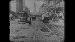 Turn of the Century 1890s - 1900s San Francisco Market Street – Clip 2 Footage