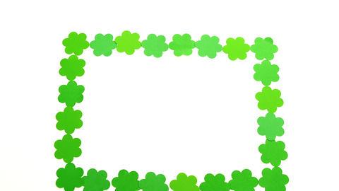 Shamrock frame for st patricks day Live Action