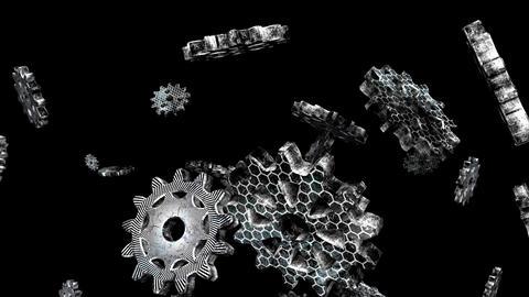Techno Gear 4K 02 Vj Loop Animation