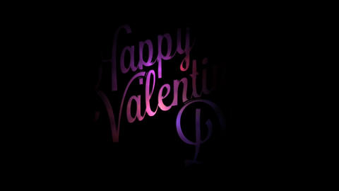 Valentine's Day: intro, opener Stock Video Footage
