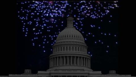 US Independence Day: mini intro animation 3 CG動画素材