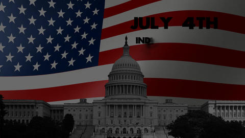 US Independence Day: mini intro animation 3 Stock Video Footage