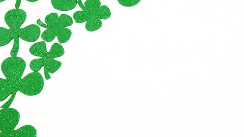 Green shamrocks for st patricks day Live Action