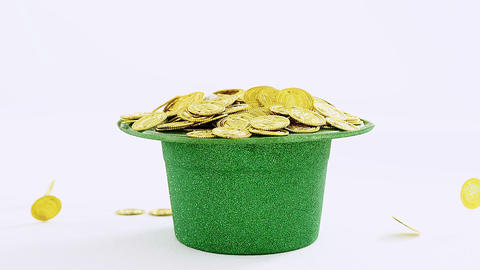 Leprechauns hat filled up with gold for st patricks Live Action