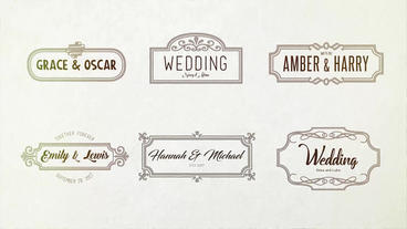 Wedding Handdrawn Titles 36 After Effects Project