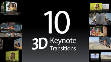 10 Keynote 3D Transitions - Apple Motion and Final Cut Pro X Apple Motionテンプレート