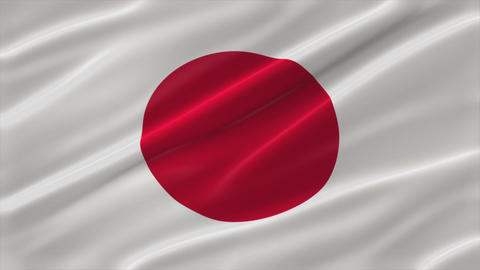 Flag of Japan 4K Animation