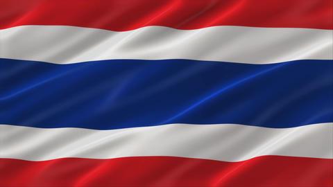 Flag of Kingdom of Thailand 4K Animation