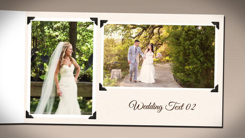 Minimal Wedding Photo Album After Effects Template