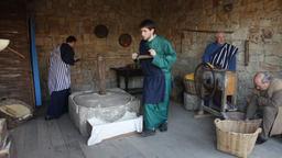 nativity scene historical reenactment biblical representation amateur actors Footage